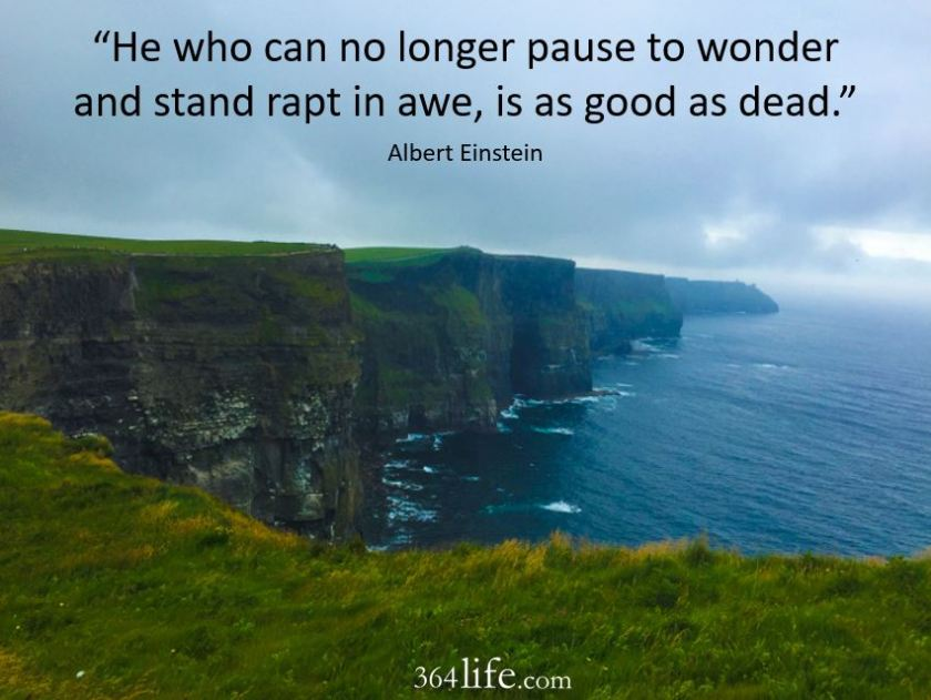 cliffs of moher edited with words