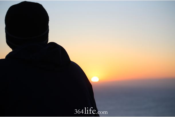 watching the sun set. 364life.com