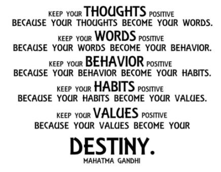 Destiny quote Gandhi
